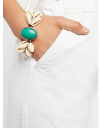 Free People - White By The Sea Shell Turquoise Bracelet - Lyst