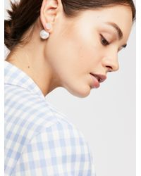 Free People - Pink Raw Stone Double Sided Stud Earrings - Lyst