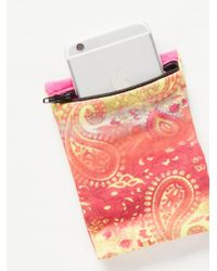 Free People - Pink Banjees Wrist Wallet - Lyst