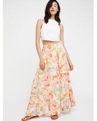 Free People | Orange Hot Tropics Maxi Skirt | Lyst