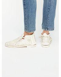 Free People - White Ventura Flat Boot - Lyst