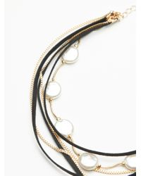 Free People - Black Wanted & Wild Leather Bolo Necklace - Lyst