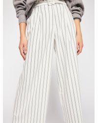 Free People - White Isla Striped Trouser - Lyst