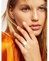 Free People - Metallic Engraved Signet Ring - Lyst