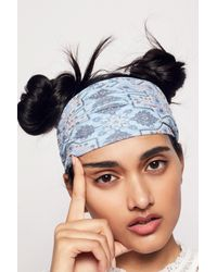 Free People - Blue Printed Widebands - Lyst