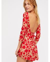 Free People - Red Temecula Bow Back Mini Dress - Lyst