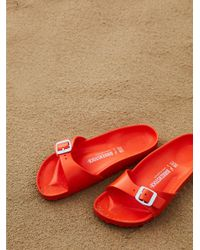 Free People - Orange Eva Madrid Birkenstock - Lyst