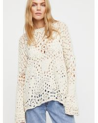 Free People - Multicolor Traveling Lace Sweater - Lyst