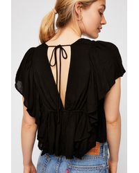 Free People - Black Valentina Top By Endless Summer - Lyst