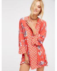 Free People | Multicolor Abbie Printed Mini Dress | Lyst