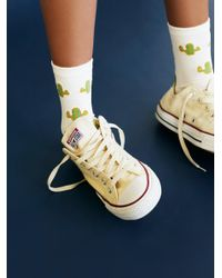 Free People | White Adventure Crew Sock | Lyst