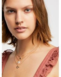 Free People - Metallic Sweetheart Layering Necklace - Lyst