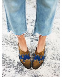 Free People | Blue Alamo Western Ankle Boot | Lyst