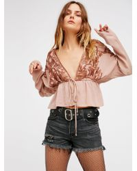 Free People | Pink Always Forever Dolman Top | Lyst