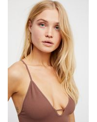 Free People Purple Move Along Bodysuit