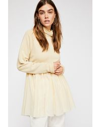 Free People - Natural La La La Pullover - Lyst