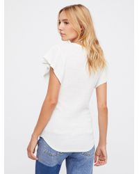 Free People - White We The Free Simone Tee - Lyst