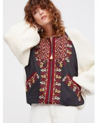 Free People - White Two Faced Embroidered Jacket - Lyst