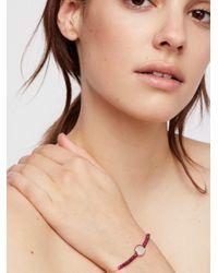 Free People - Natural Libi Stone Bracelet - Lyst