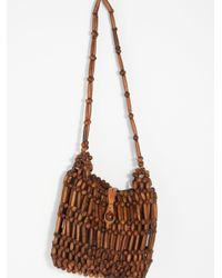 Free People - Brown Frankie Beaded Hobo - Lyst