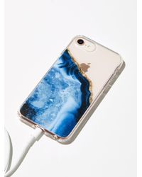 Free People   Blue Prismatic Iphone Case   Lyst