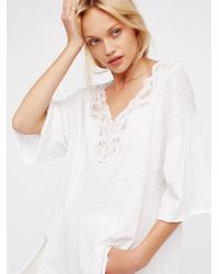 Free People - White B.a. Tee - Lyst