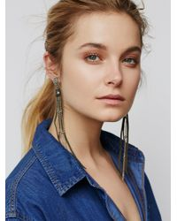Free People - Green Badlands Leather Duster - Lyst