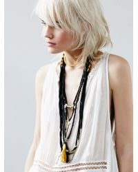 Free People | Black Bali Breeze Necklace | Lyst