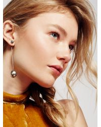 Free People | Metallic Baroque Chain Pendulum Earring | Lyst