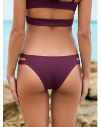Free People - Purple Chloe Moderate Bikini Bottom - Lyst