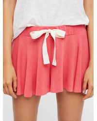 Free People - Red Intimates Bottoms Shorts Legs For Days Shortie - Lyst