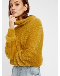 Free People | Yellow New Turtleneck | Lyst