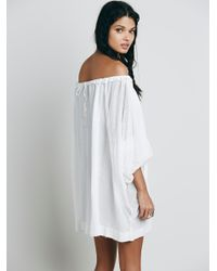 Free People - White Beach Dreamin Tunic - Lyst