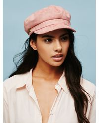 Free People | Multicolor Billie Jean Faux Suede Lieutenant Hat | Lyst