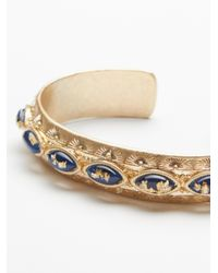 Free People - Metallic Blue Lagoon Stone Cuff - Lyst