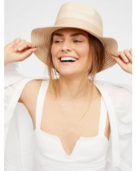 Free People | Natural Boardwalk Packable Hat | Lyst