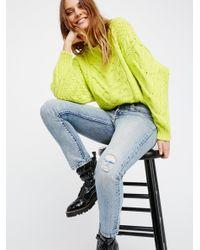 Free People - Yellow Bonfire Sweater - Lyst