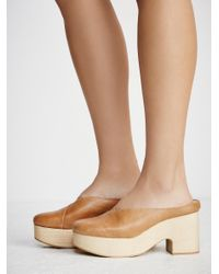 Free People Natural Brea Lined Clog