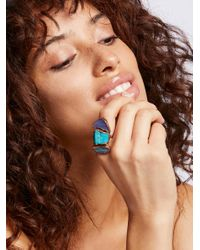 Free People - Blue Buried Treasure Triple Stone Ring - Lyst