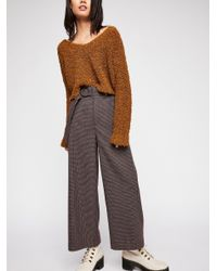 Free People - Multicolor Violet High-waisted Pants - Lyst