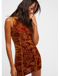 Free People - Brown Burnout Babe Bodycon - Lyst