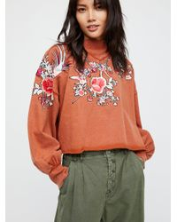 Free People - Orange All Or Nothing Pullover - Lyst