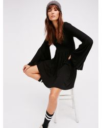 Free People | Black Camilla Dress | Lyst