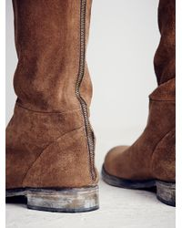 Free People - Brown Carlisle Suede Over-The-Knee Boots - Lyst