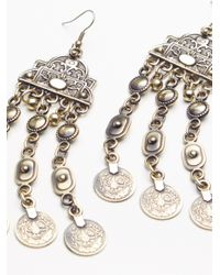 Free People | Metallic Cascading Coin Drop Earrings | Lyst