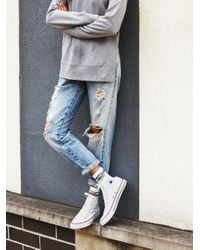 Free People   Yellow Charlie Hi Top Converse   Lyst