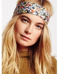 Free People | Brown Clarissa Printed Headband | Lyst