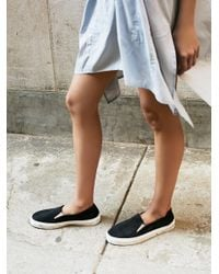 Free People - Black Clayton Slip On Sneaker - Lyst