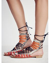 Free People - Orange Clover Sandal - Lyst