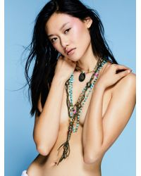 Free People | Blue Coastal Storm Layered Necklace | Lyst